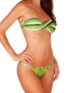Bikini bandeau coloré