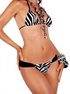 bikini brésilien zebre