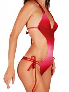 trikini bresilien rouge