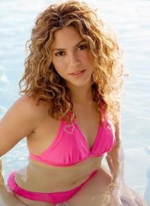 Shakira maillot de bain rose
