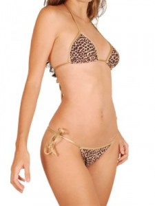 bikini imprimé léopard